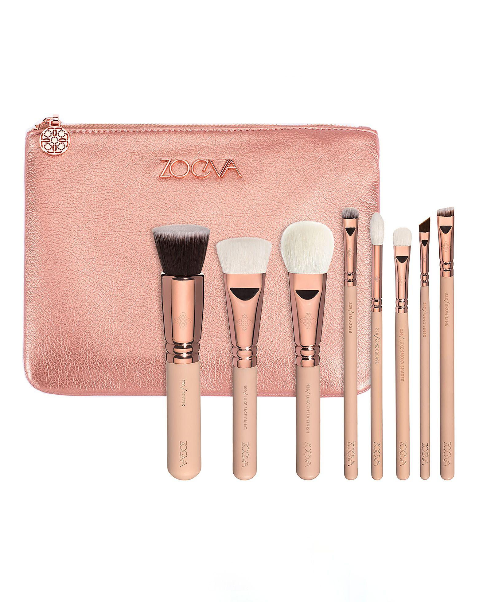 Rose Golden Luxury Brush Set Volume 2 by ZOEVA Makeup
