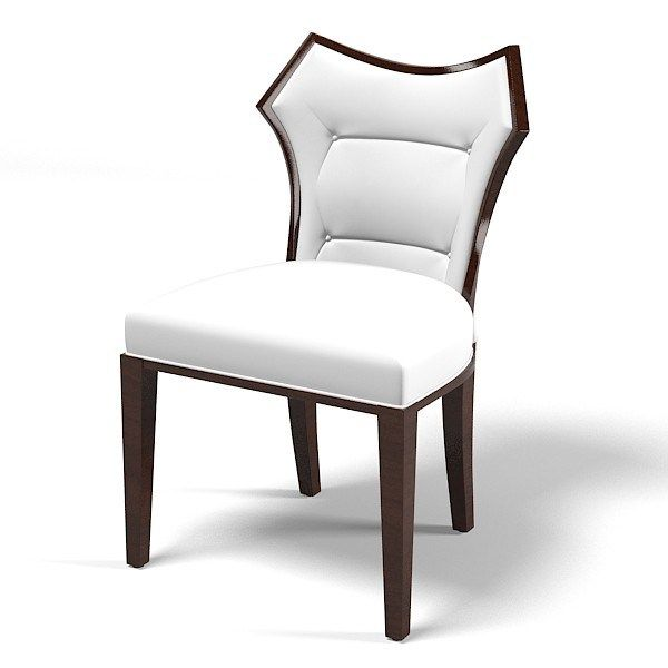 Contemporary Dining Chairs White Leather Fabric Contemporary