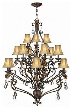 Hinkley Lighting 4807SU Veranda Summerstone 15 Light Chandelier traditional chandeliers