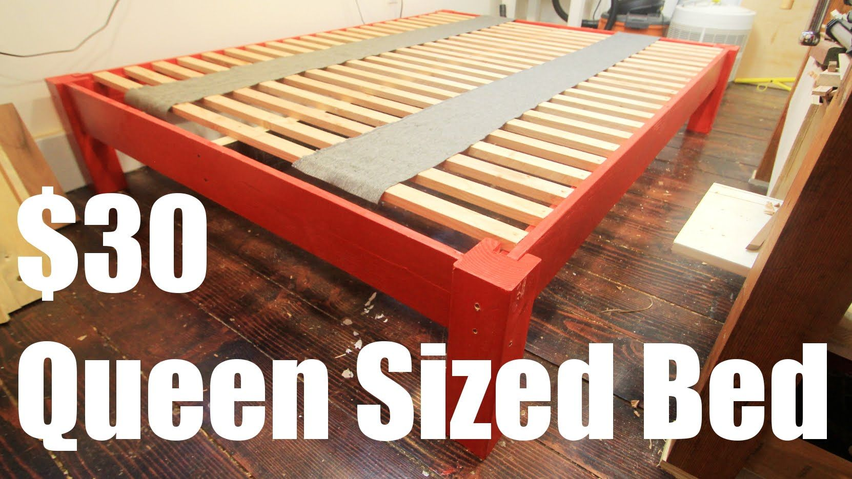 How To Make A Queen Sized Bed Frame For Under 30 Queen Size Bed