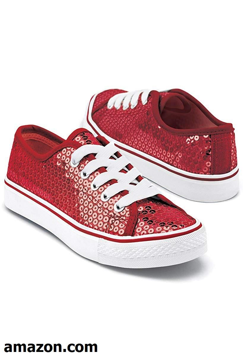 Balera Sneakers Girls Shoes for Dance with Sequins Low Top Womens Lace Up Shoes