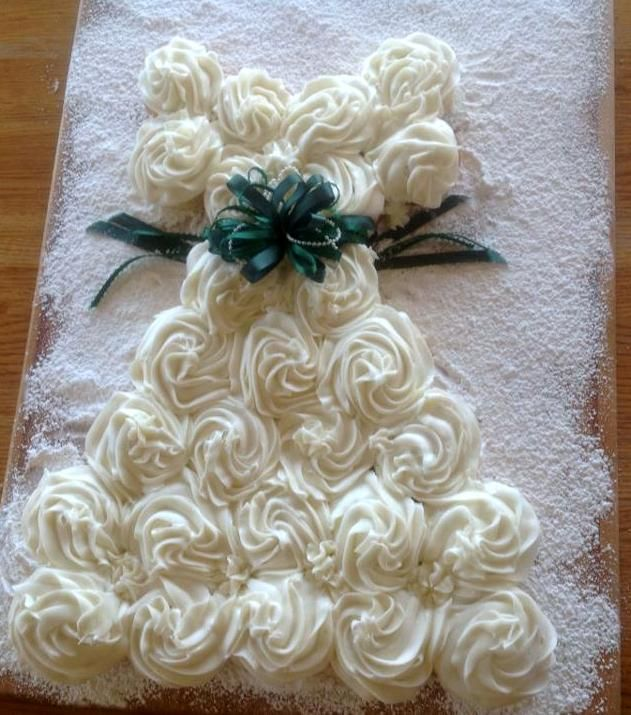 "THIS IS A ""PULL APART CUPCAKE DRESS CAKE""...saw it on FB!!!  ;-)"
