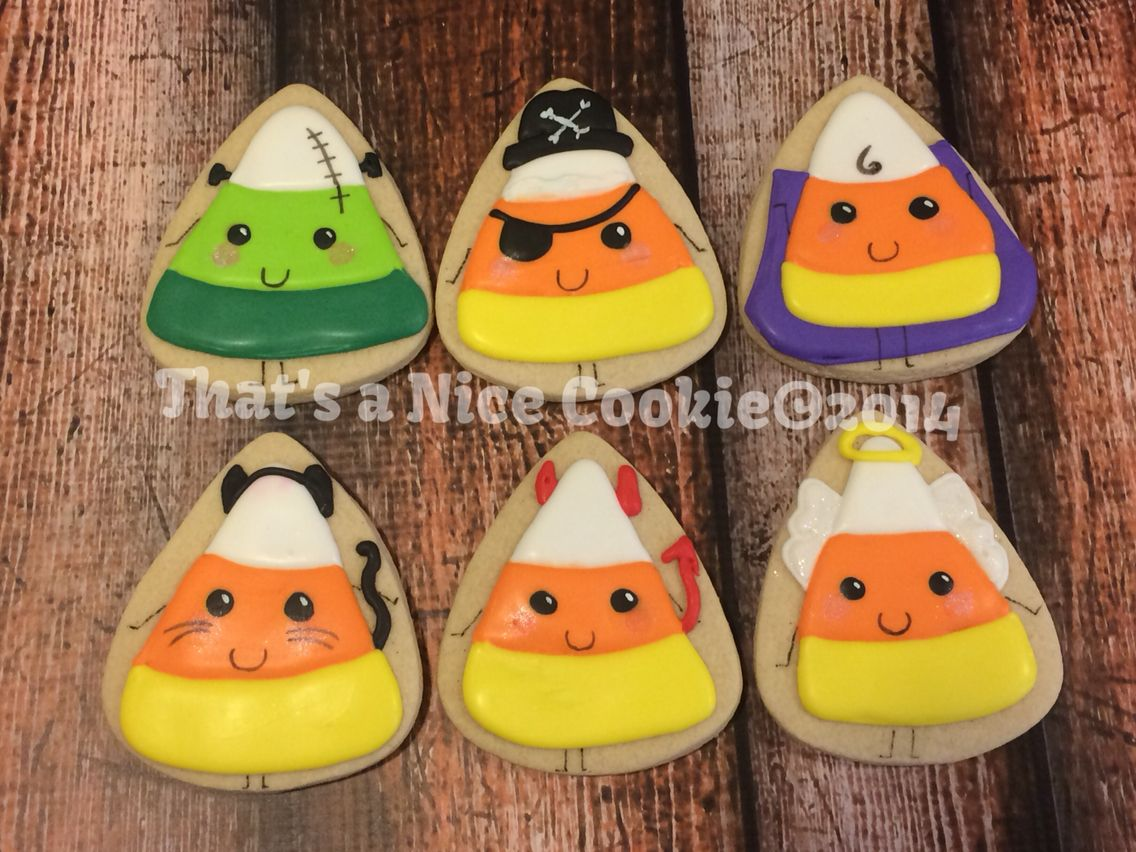 Halloween Candy Corns made by That's a Nice Cookie 2014