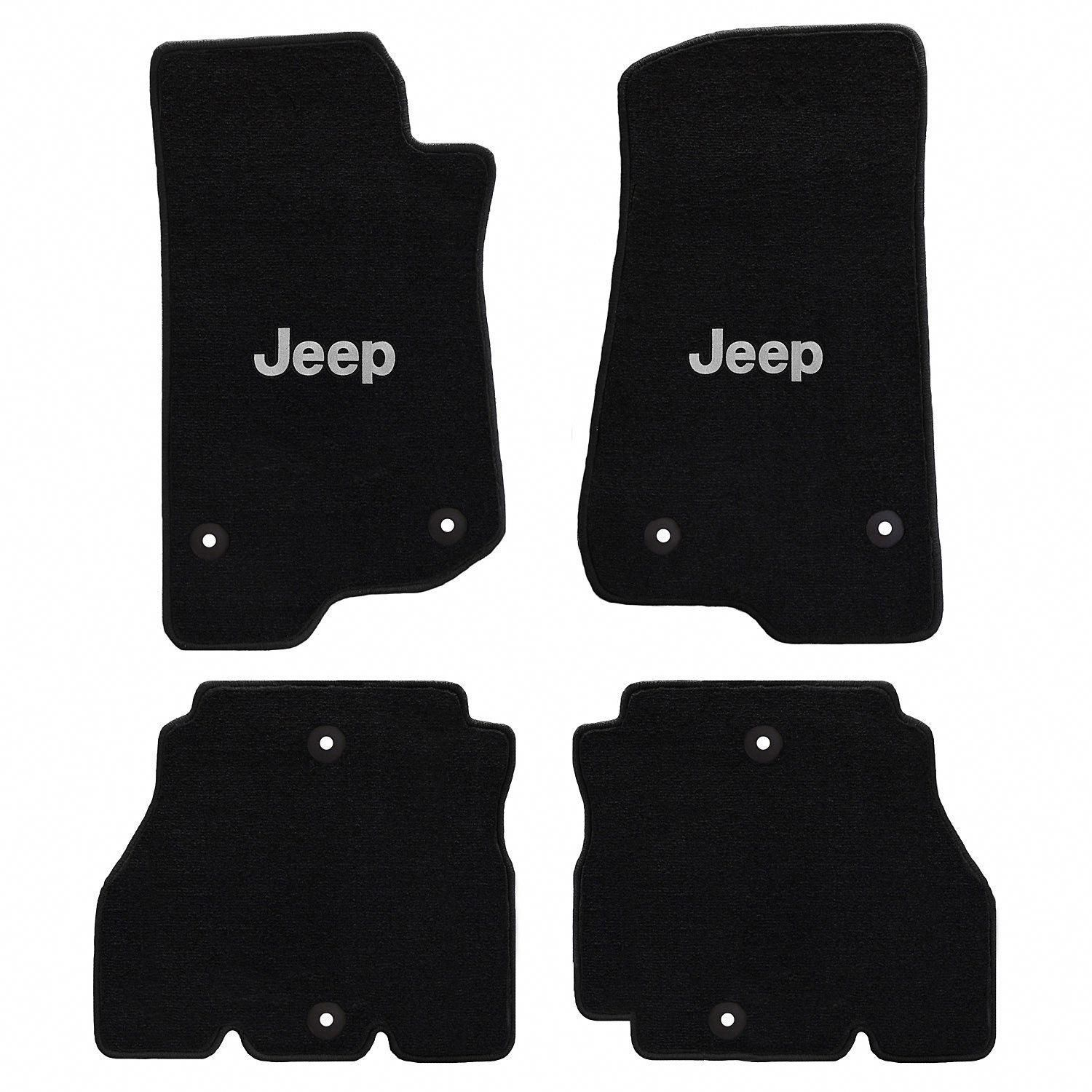 All Weather Jeep Logo Carpeted Floor Mats For 18 19 Jeep