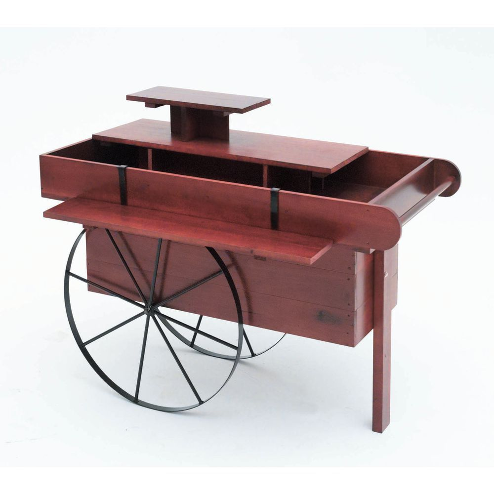 Peddler S Wooden Display Cart Wooden Display Solid Pine