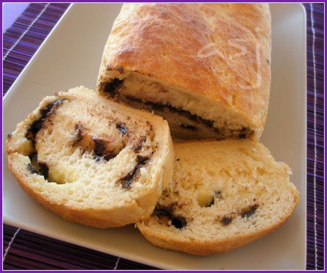 Una Fiera en mi cocina: Pan de leche relleno de chocolate blanco y negro