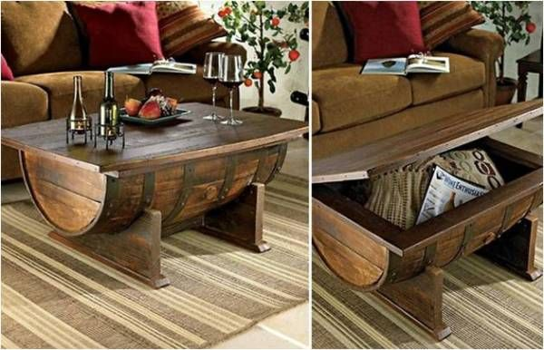 DIY Barrel Coffee Table Tips On How To Make One Find Fun Art