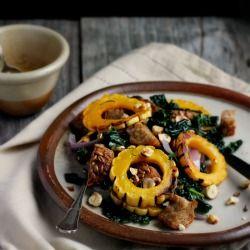 Warm Autumn Panzanella Salad w/ Cinnamon Cider Dressing / Happy Hearted Kitchen