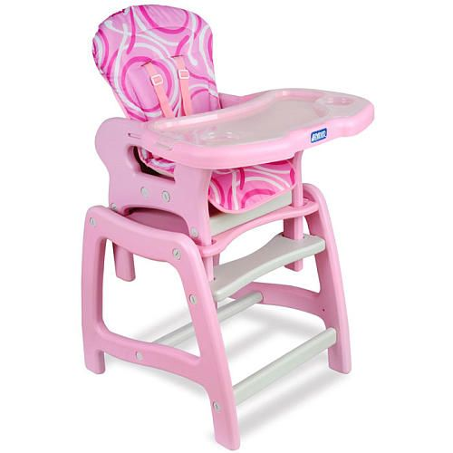 Badger Basket Envee Baby High Chair With Playtable Conversion Pink White Badger Basket Company Bab Convertible High Chair Pink High Chair Baby High Chair