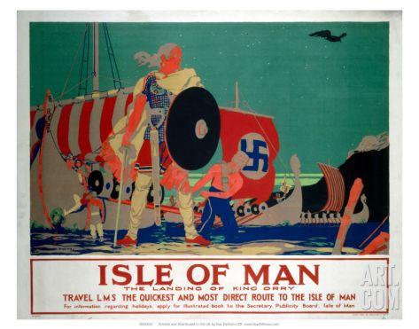 Isle of Man, LMS, c.1920s Art Print by Reginald Higgins at Art.com
