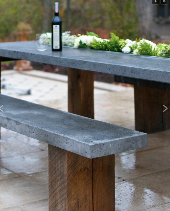 Planter Box Table With Bench Poolside Furniture Outdoor