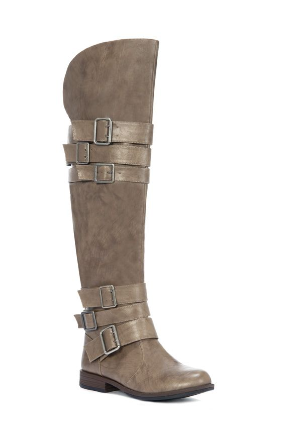 STEPH taupe knee high boots