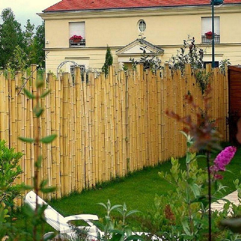 Cloture de jardin en bambou   Aménagement du jardin en 2019 ...