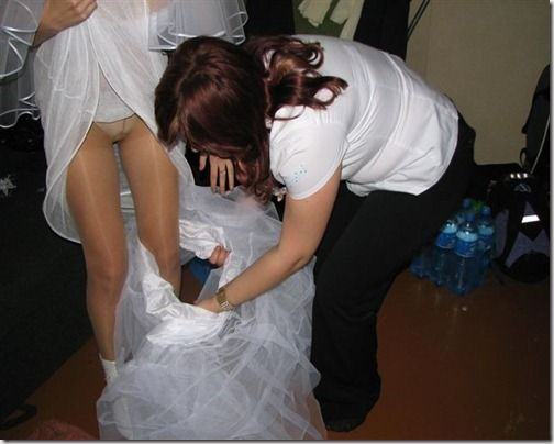 Free wedding upskirt