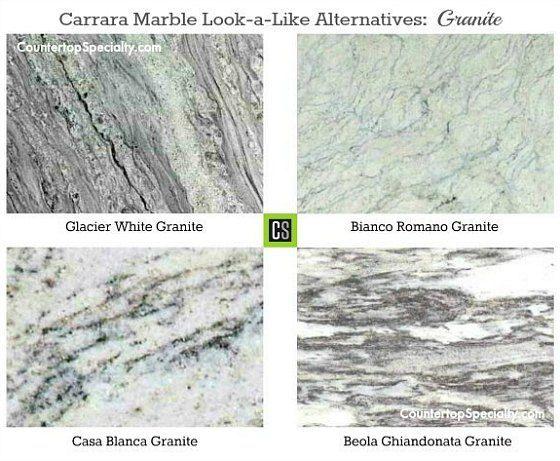 Granite Looks Like White Carrara Marble