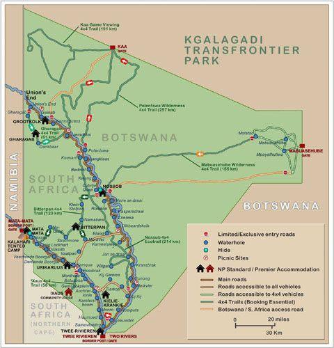 wilderness south africa map Twee Rivieren Camp Wilderness South Africa South Africa wilderness south africa map