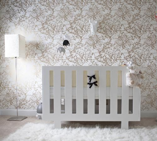 Modern Nursery Wallpaper: Fantastic Boy's Nursery Design With