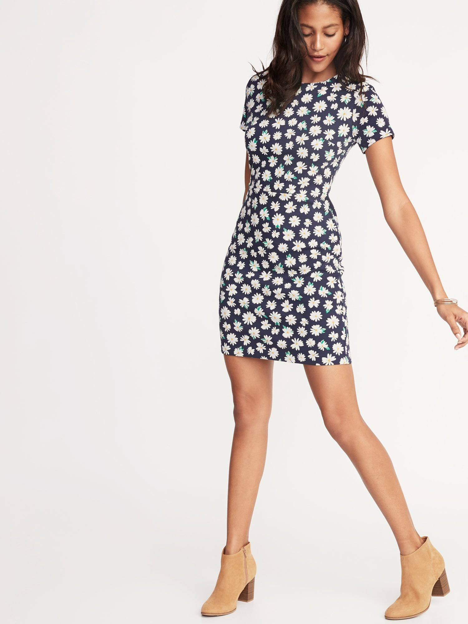 e85d122abee49 Printed Ponte-Knit Sheath Dress for Women in 2019   summer wardrobe ...
