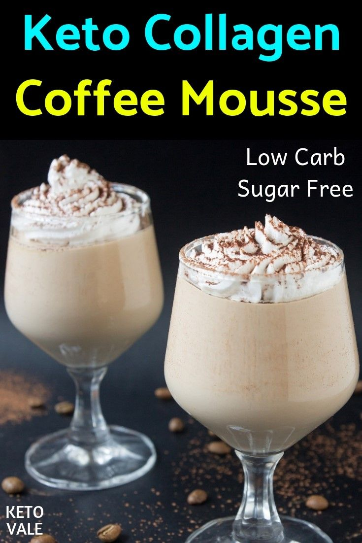Keto Collagen Coffee Mousse with Whipped Cream Recipe