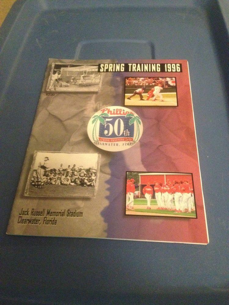 1996 Philadelphia Phillies Spring Training Program
