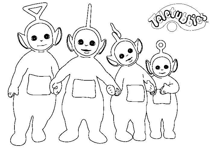 Dibujos Infantiles para Colorear y Pintar   colorear teletubbies ...