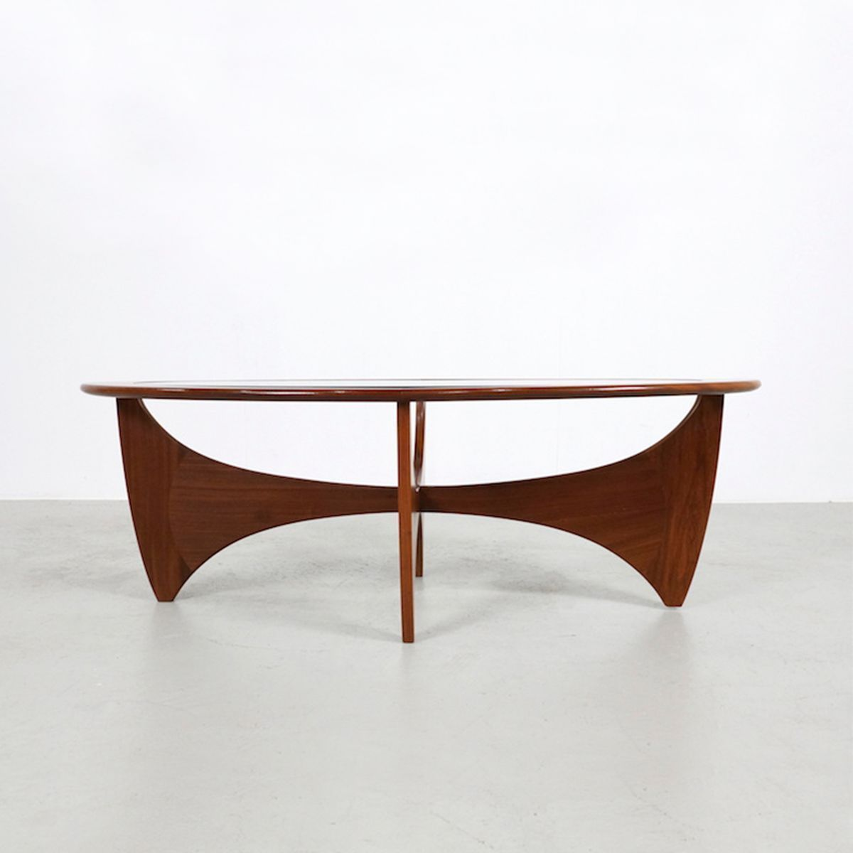 Ovaler Teak Astro Couchtisch Von V Wilkins Fur G Plan 1970er Fs Inspire Teak Glass Table Table