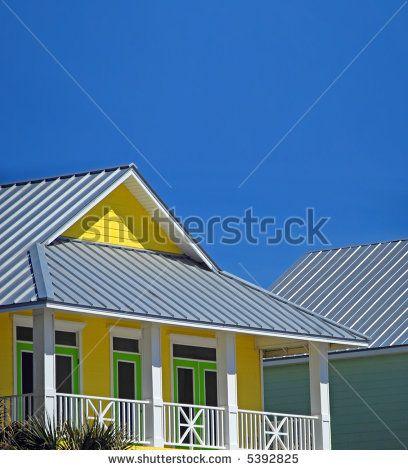 House Tin Roof Yellow Google Search Metal Shingle Roof Beautiful Roofs Roof Shingles