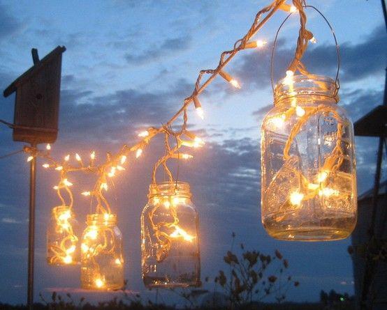String light with mason jars