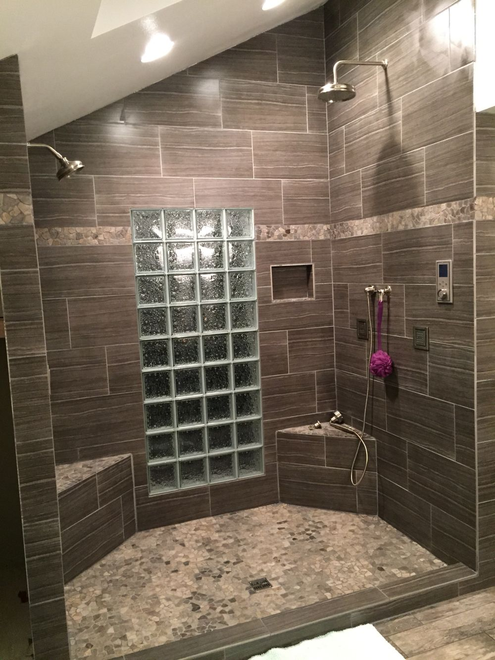 Double Shower Head And Four Body Sprays By The Plumbing Joint - Bathroom remodel renton wa