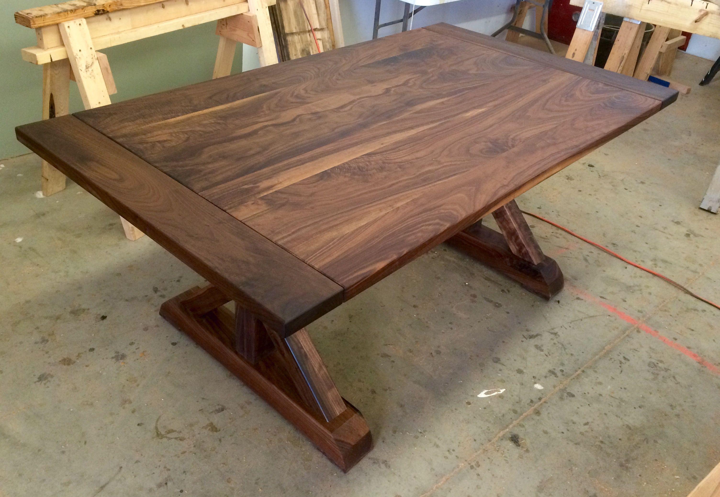 Black Walnut Traditional Trestle Table Black Walnut Table