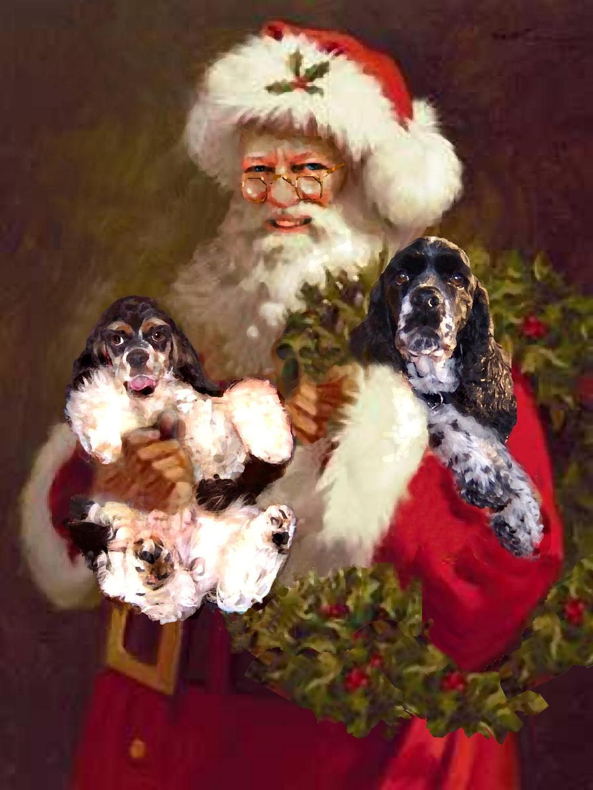 That's my Santa with Mikey puppy and Jake at 3.