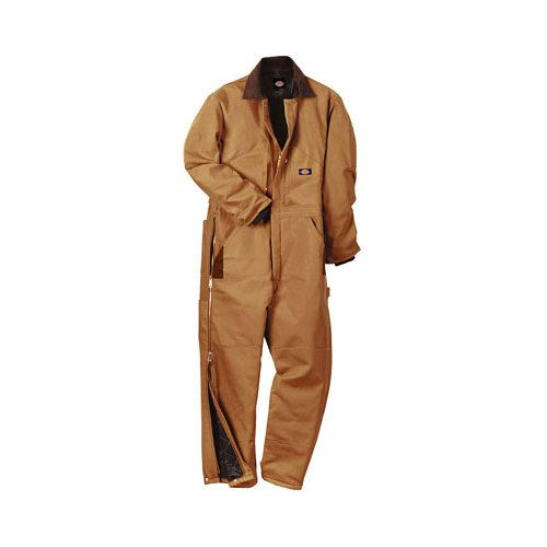 men s dickies premium insulated coverall short brown on insulated overalls for men id=37333