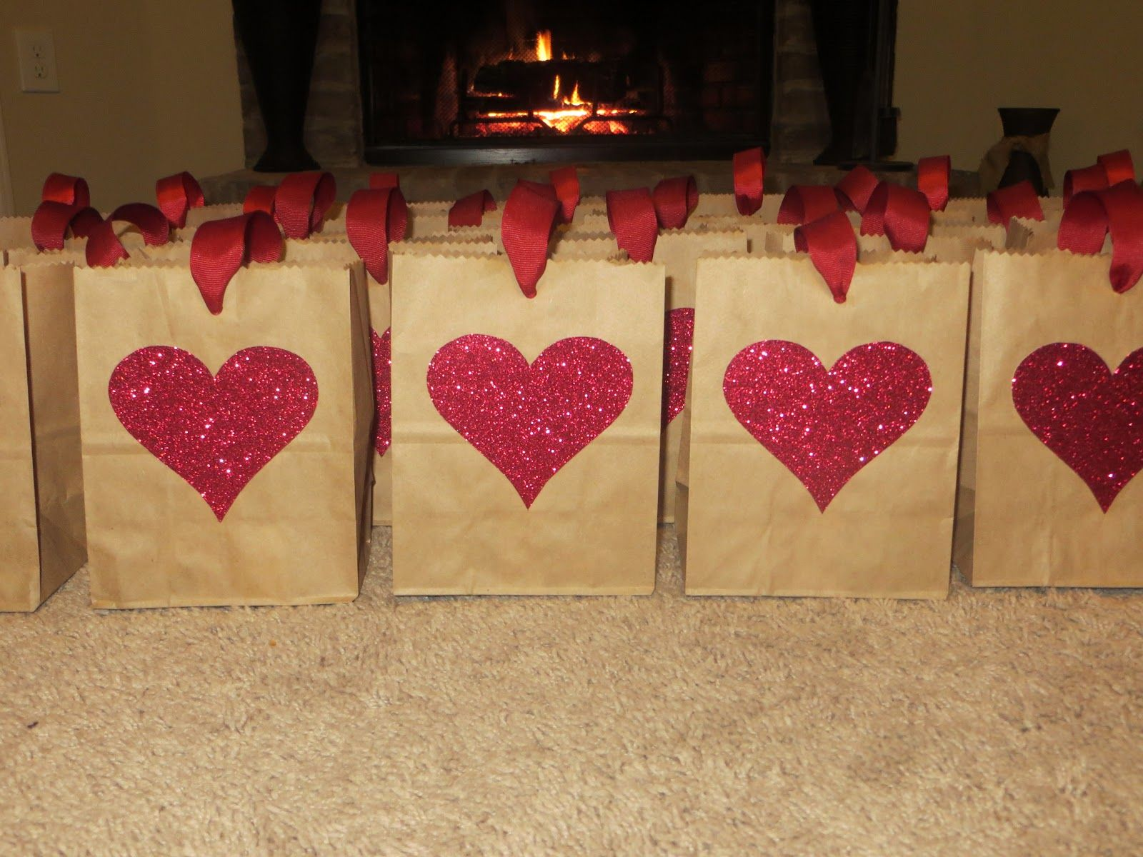 Easy Non Candy Valentine Goody Bags