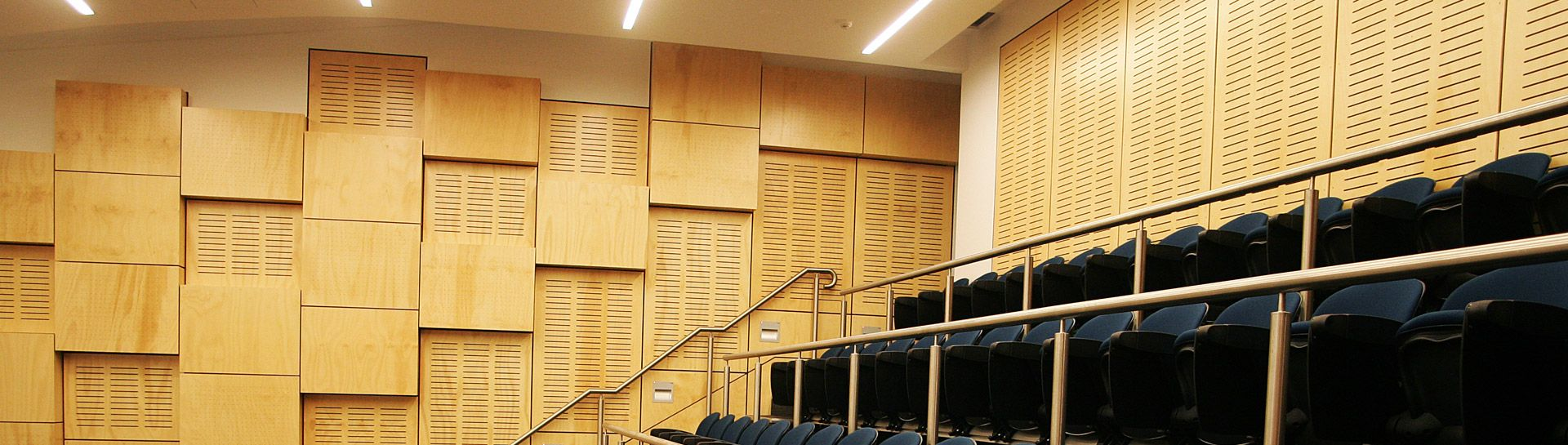 Stunning wall panelling | Lecture Theatre | Key-Ply | Plywood ...