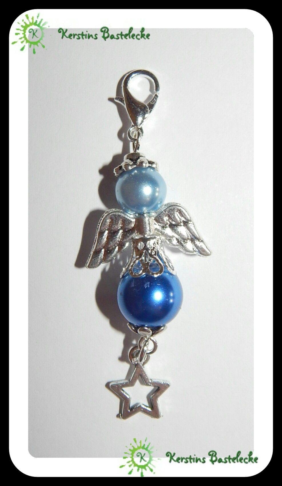 Engel #Blüte #Perlen #Schutzengel #Flügel #Karabinerhaken #Blau ...