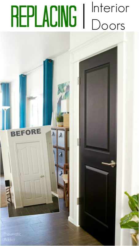 Replacing My Interior Doors And Painting Them Black Remodelaholic