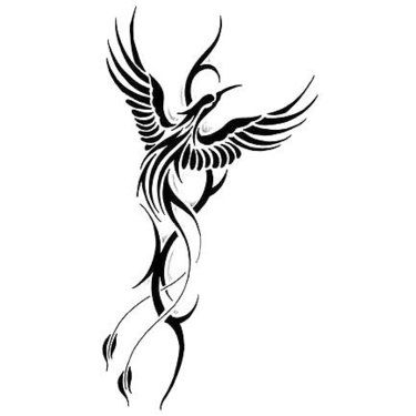 cool tribal phoenix tattoo design tats tribal phoenix tattoo tribal tattoos phoenix tattoo. Black Bedroom Furniture Sets. Home Design Ideas