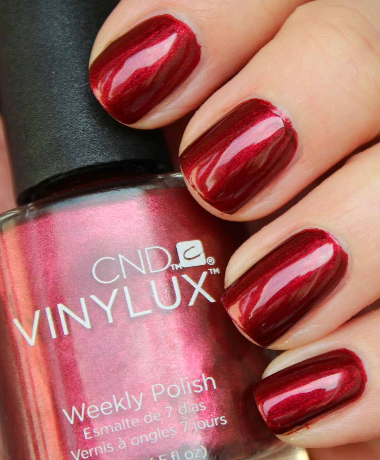 CND Vinylux Crimson Sash