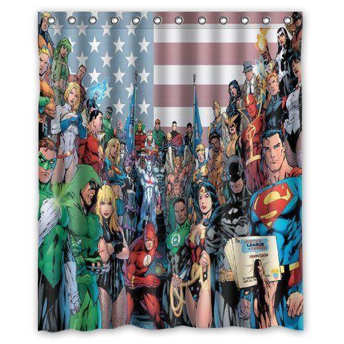 Artswow Custom Waterproof Polyester Fabric Marvel Justice League