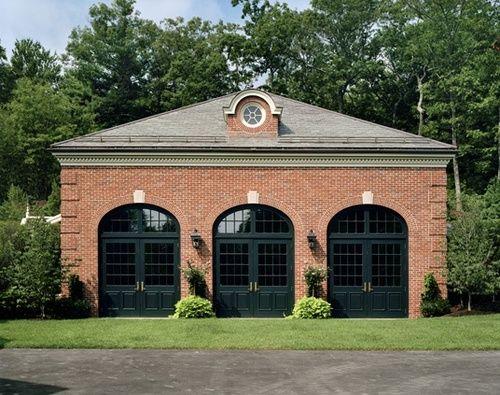 Via Garage Vic Boston Massachusetts Grassi C U R B A P P E A L Red Brick House House Exterior Garage Door Design