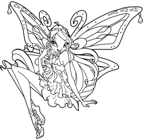 Beautiful Winx Club Coloring Pages | zeichnen | Pinterest ...