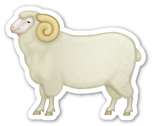 This Sticker Is The Large 2 Inch Version That Sells For 1 Each If You Are Looking For The Emoji Stic Animal Stickers Emoji Stickers Farm Animals Activities