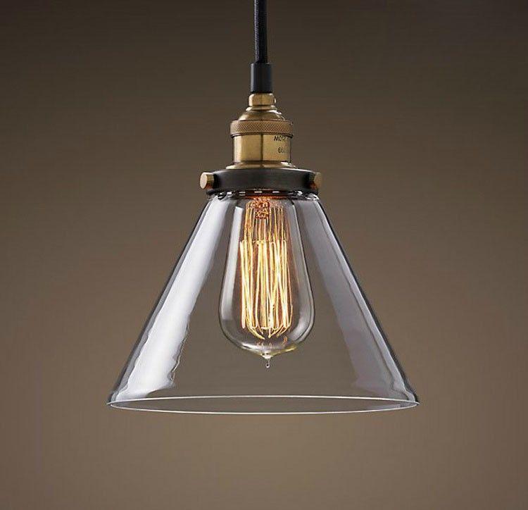 RH Modern Vintage Industrial American Country Loft Glass Edison Pendant Lamp Living Room Bar Home Art
