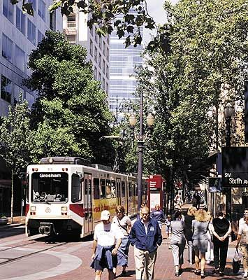 The Max will take you most everywhere in Portland... including Pioneer Place!