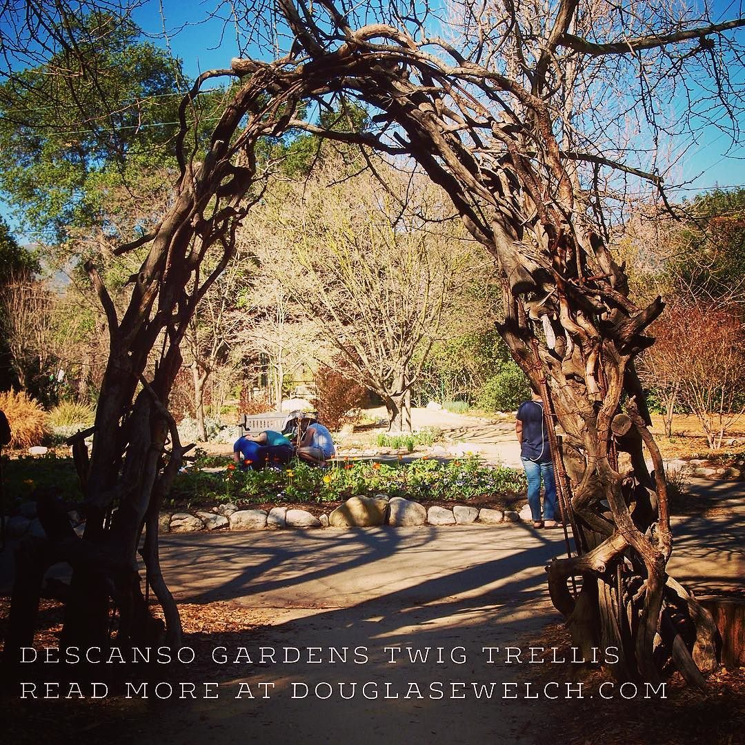 Twig trellis at Descanso Gardens. Read more about it at http://ift ...
