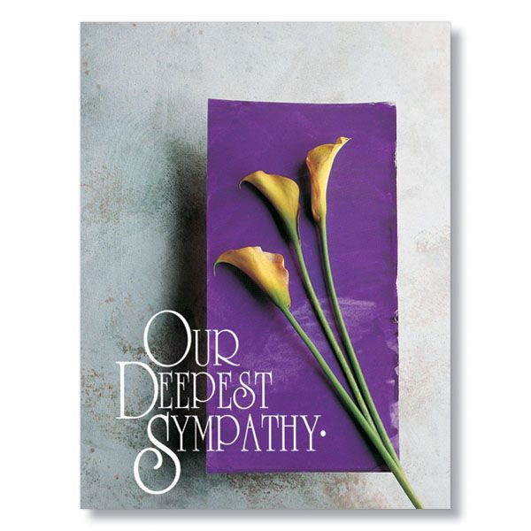 With Our Deepest Sympathy Card | Happy Birthday cards,etc ...