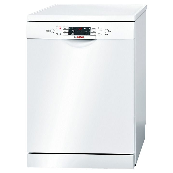 Bosch Sms63m42gb Freestanding Dishwasher White Freestanding