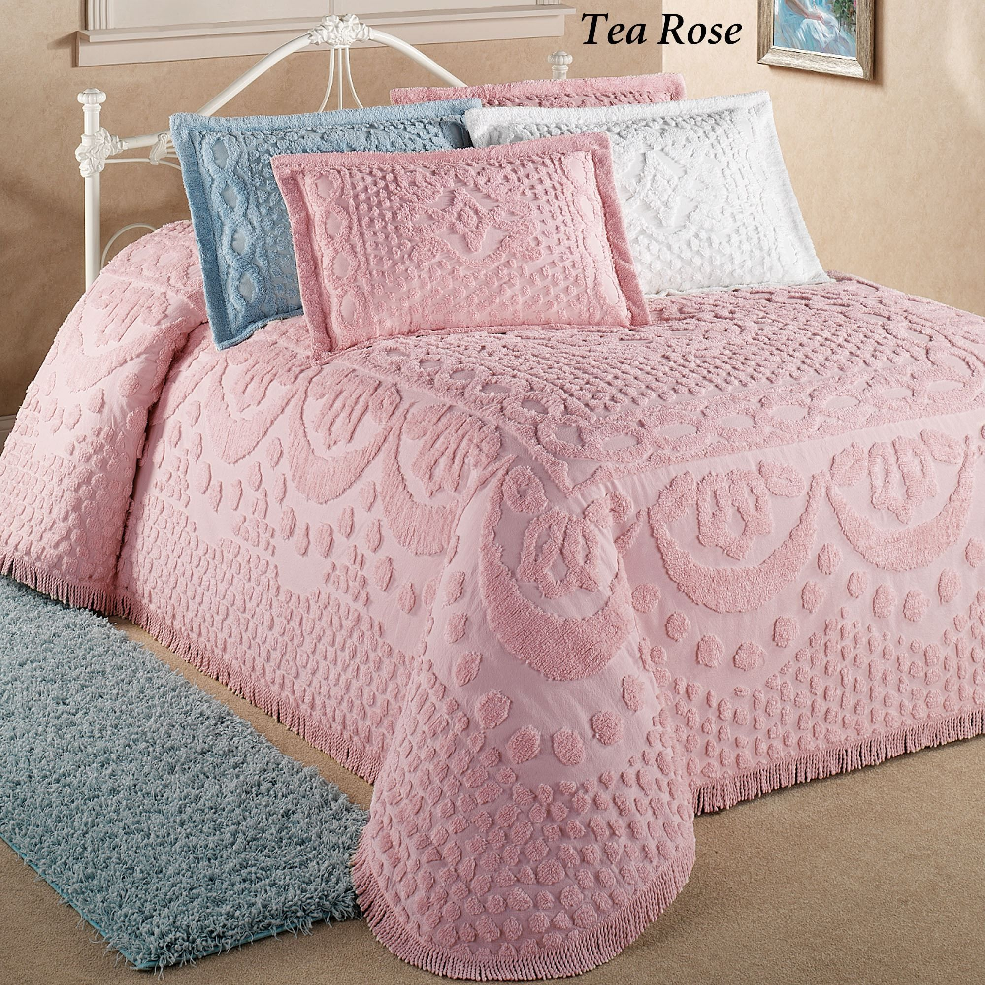 Kingston Solid Color Chenille Bedspreads | Chenille bedspread, Bed