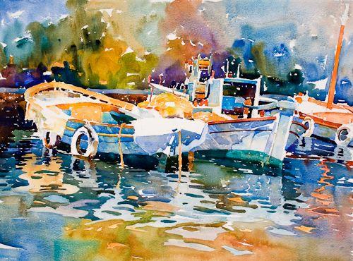 Steve Rogers Twsa Watercolor Artists Watercolor Boat