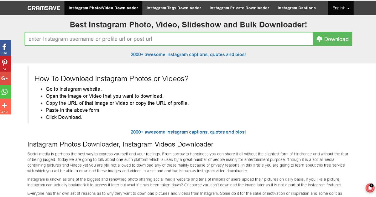 Download Gambar Dari Instagram 7 Aplikasi Yang Bisa Digunakan Untuk Mendownload Video Dari Instagram Video Downloader Down Instagram Gambar Gambar Bergerak